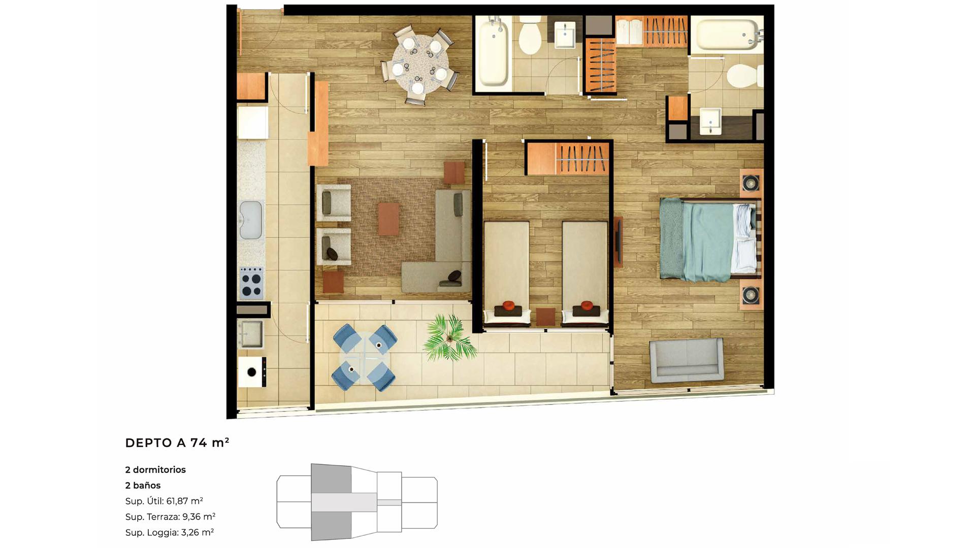 Edificio Innova - Departamento A - 74 mts