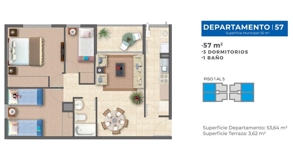 Edificio Pintor Gustavo Cabello – Departamento 57