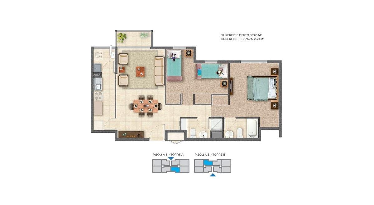 Edificio Barrio Nuevo - Depto B 59m2