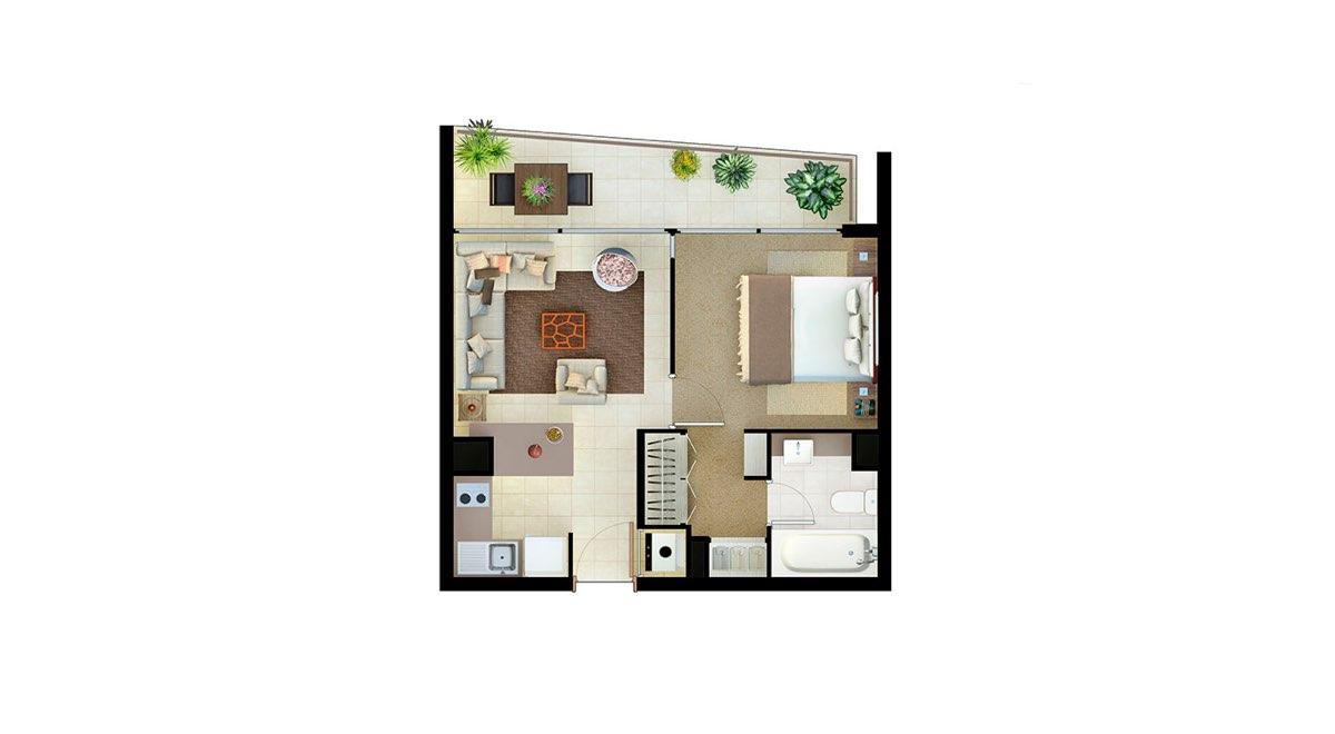 Edificio Matta - Departamento B - 39 mts