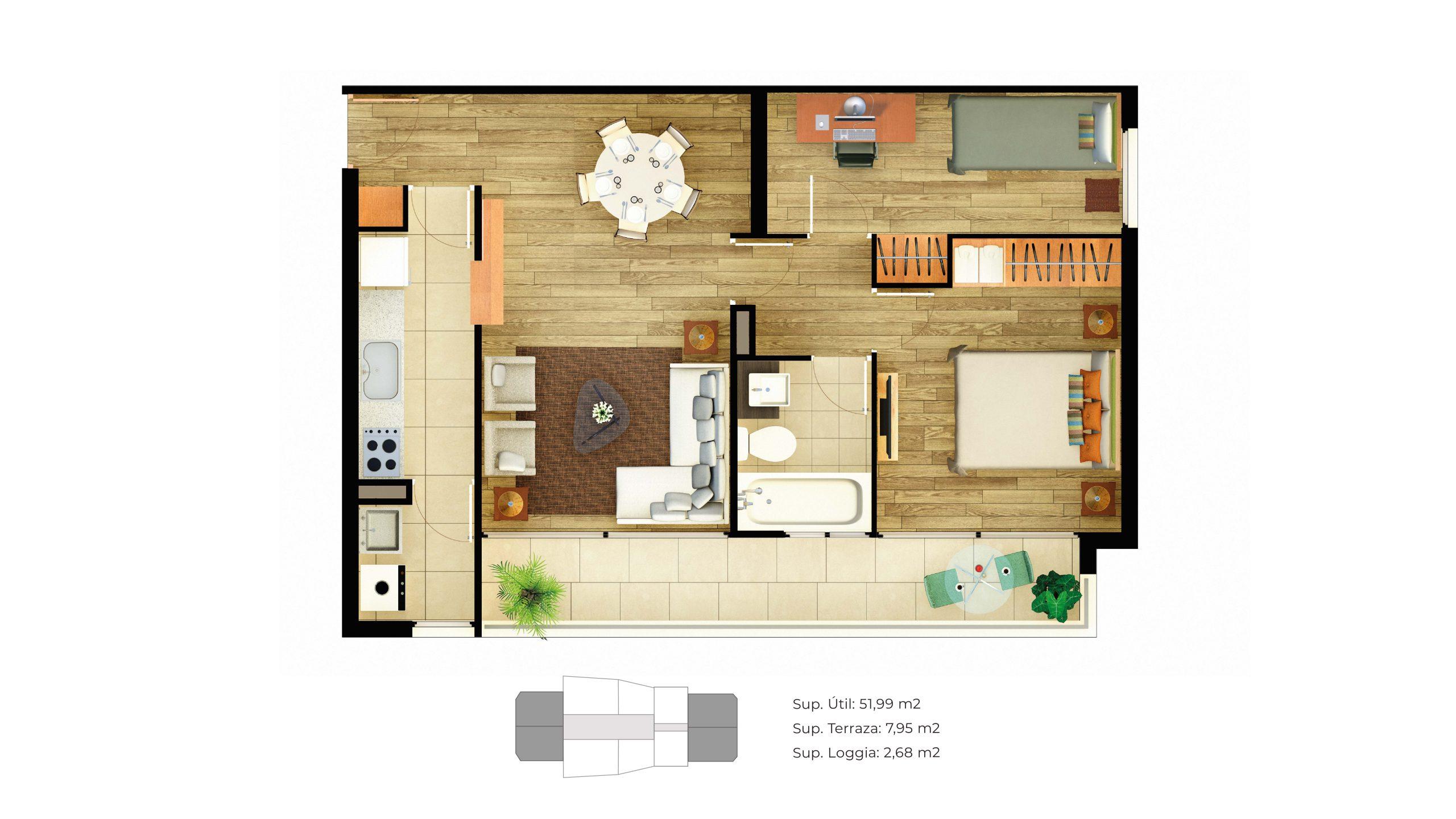 Edificio Innova - Departamento B - 62 mts