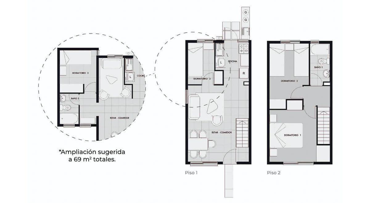 Los Clarines Nueva Etapa - Casa 57 M