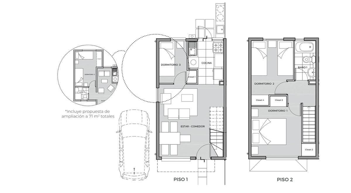 La Araucaria de Colina - Casa 57 M