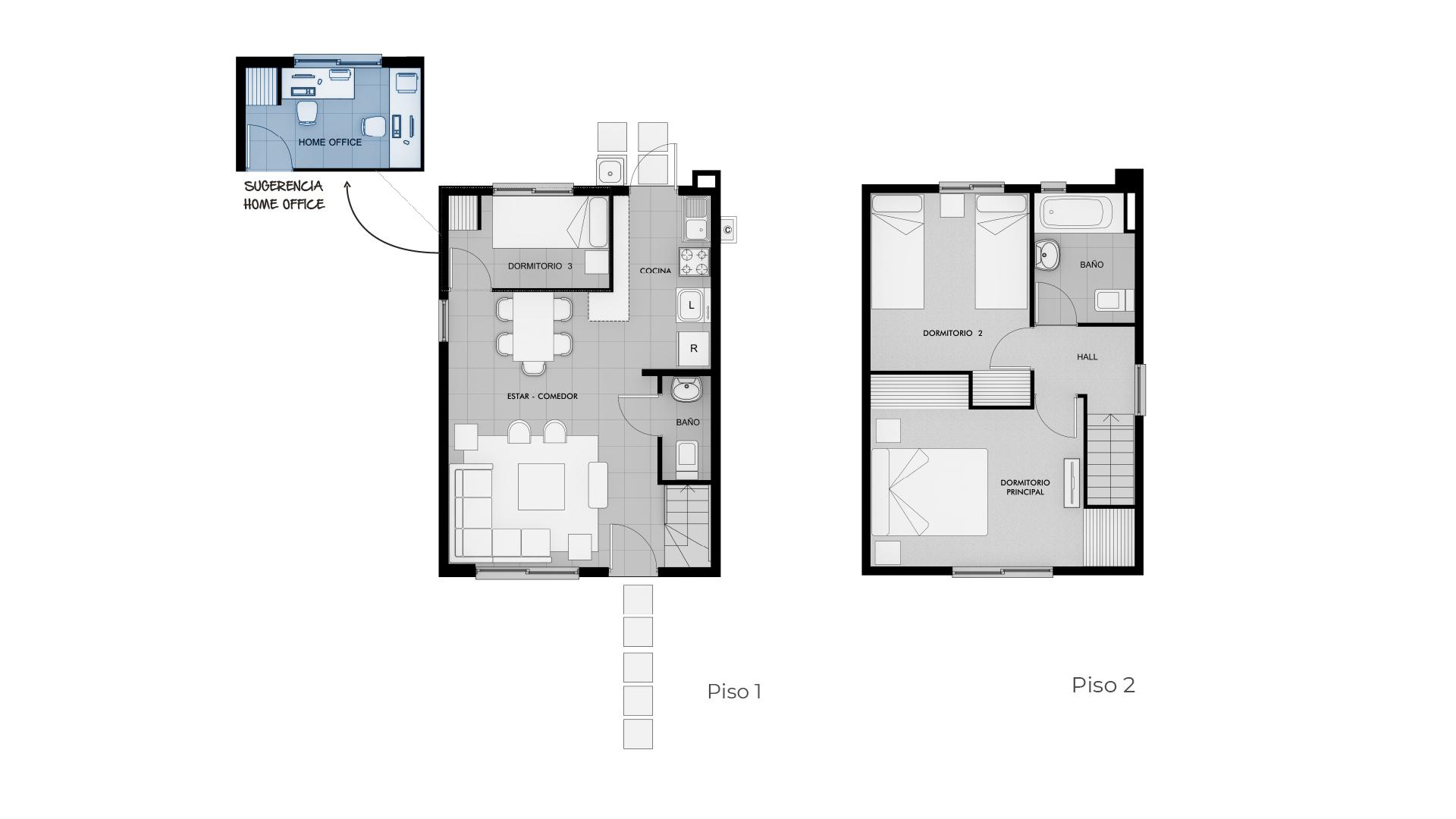 Valles de Rengo II Etapa 2 - Casa 65M