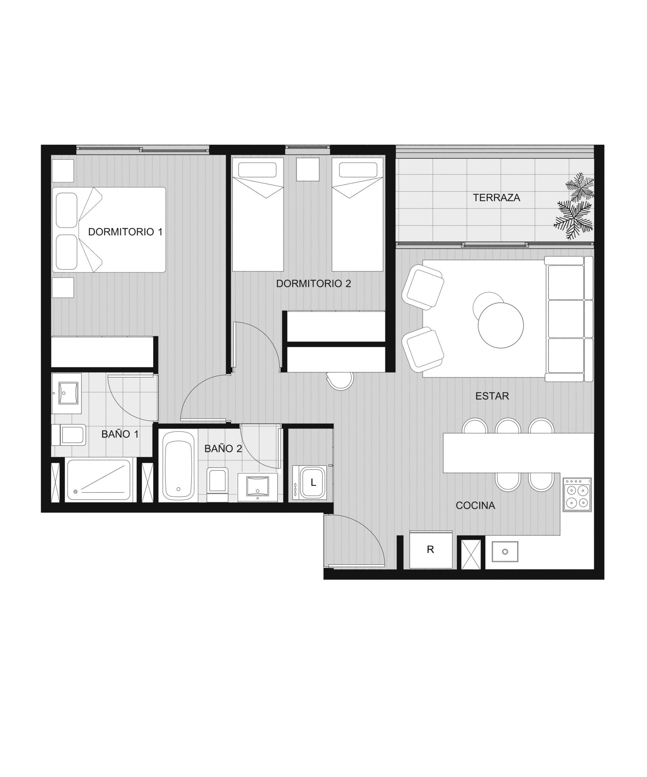 Condominio Playa Blanca - Depto B